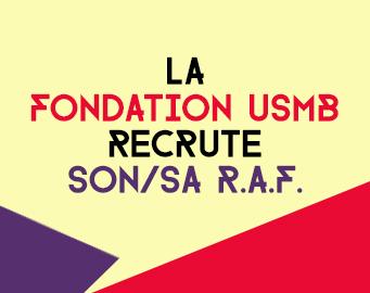 La Fondation USMB recrute un(e) responsable administratif et financier